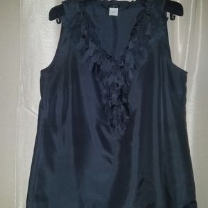 Silk Navy Blue J. Crew Blouse
